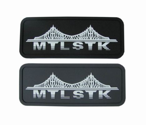 2D Embossed Logo Rubber Morale PVC Patch For Garment