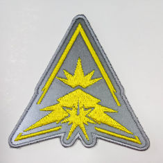 Heat Cut Border Iron On 12C Color Reflective Embroidered Patch