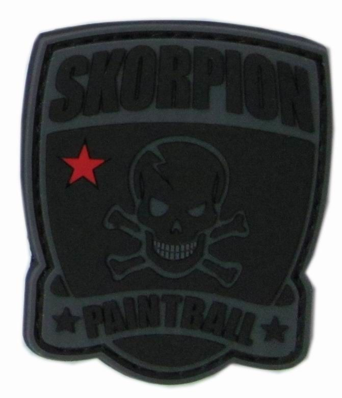 Rubber 2D Logo 3'' Skull 2C Color PVC Silicone Patches